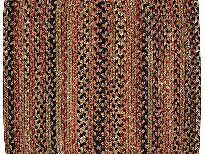 Braided Homecoming Chestnut Brown Rugs