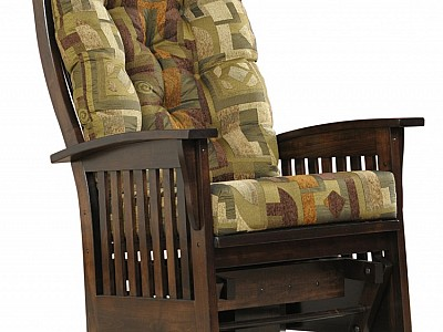 Deluxe Bow Back Swivel Glider with Cushions