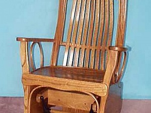 Amish Flat Arm Swivel Glider