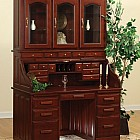 56 Traditionak Roll-Top Desk with Hutch