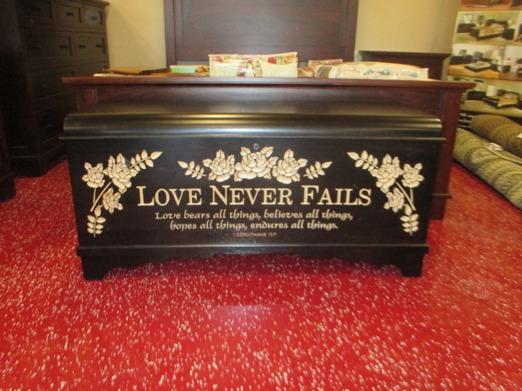 Brown Maple Waterfall Chest Love Never Fails