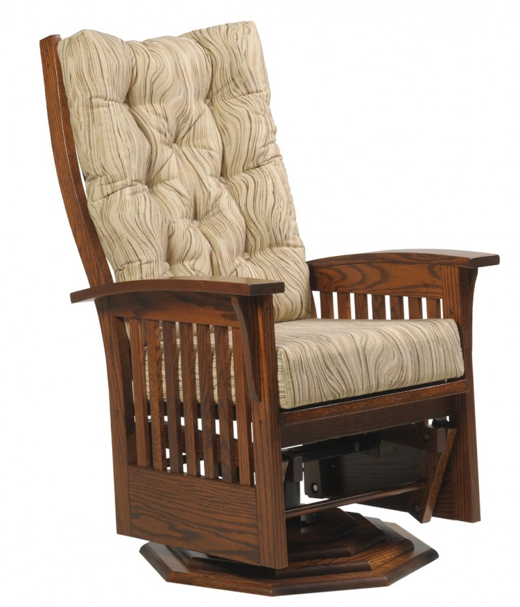 Deluxe Bow Back Swivel Glider With Cushions M86 2