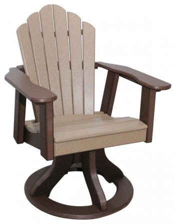 Snuggle-Back Swivel Dining Chair