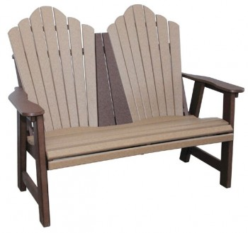 4' Snuggle-Back Garden Bench  -  Cat No: SGB-8  -  Click To Order  -  ID: 942
