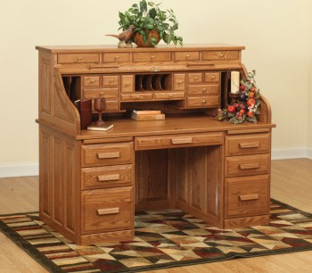 62 Traditional Roll Top Desk  -  Cat No: LVF3062RT-DOT  -  Click To Order  -  ID: 881