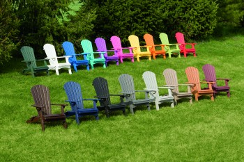 Folding Adirondack Lounge Chair - ID: 811