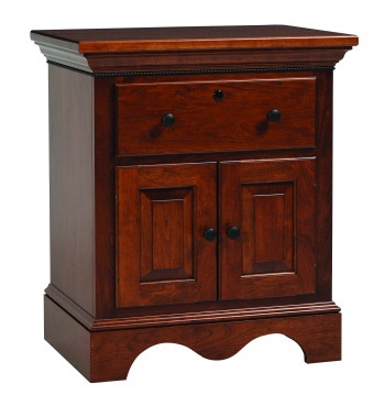 Merlot Nightstand w/ Doors  -  Cat No: TR7004  -  Click To Order  -  ID: 751