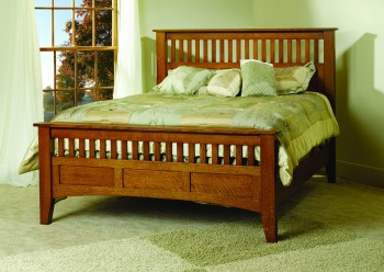 Mission Antique Bed  -  Cat No: TR 1001  -  Click To Order  -  ID: 680