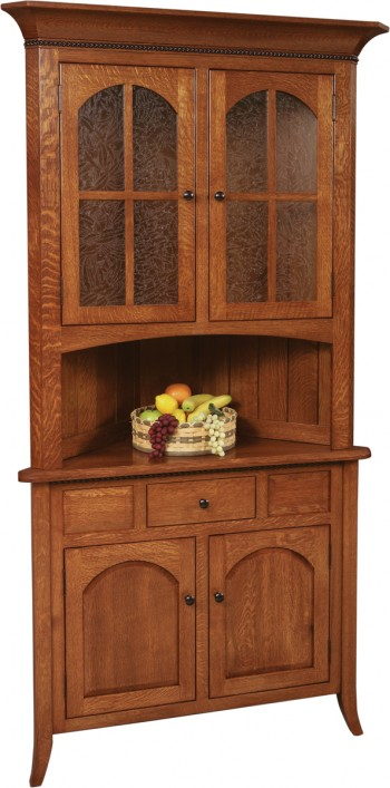Bunker Hill Corner Hutch  -  Cat No: GDGO6-38S  -  Click To Order  -  ID: 636