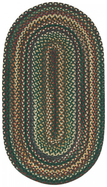 Braided Bear Creek Hunter Green Rugs  -  Cat No: 0980-275  -  Click To Order  -  ID: 935