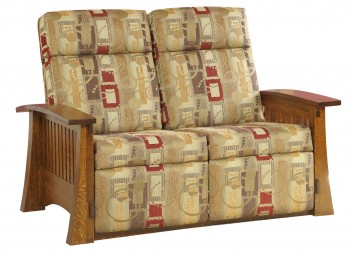 Craftsmen Mission Loveseat Recliner  -  Cat No: M88-2  -  Click To Order  -  ID: 555