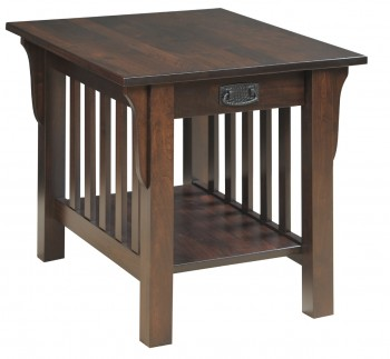 Mission Style End Table W/ Drawer  -  Cat No: M85-5D  -  Click To Order  -  ID: 559
