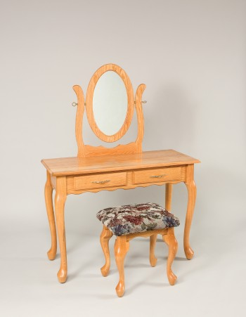 Queen Anne Two Draw Dressing Table  -  Cat No: WS710  -  Click To Order  -  ID: 838