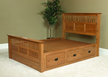 Siesta Mission Bed with Drawers - ID: 766
