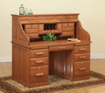 56 Traditional Roll-Top Desk  -  Cat No: LVF3056RT-DOT  -  Click To Order  -  ID: 883