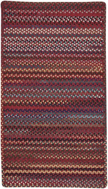 Braided Yorktowne Red Rectangle Rugs  -  Cat No: 0195-550  -  Click To Order  -  ID: 910
