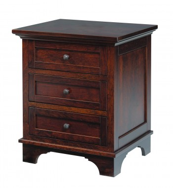 Arlington 3 Drawer Nightstand  -  Cat No: TR2208  -  Click To Order  -  ID: 790